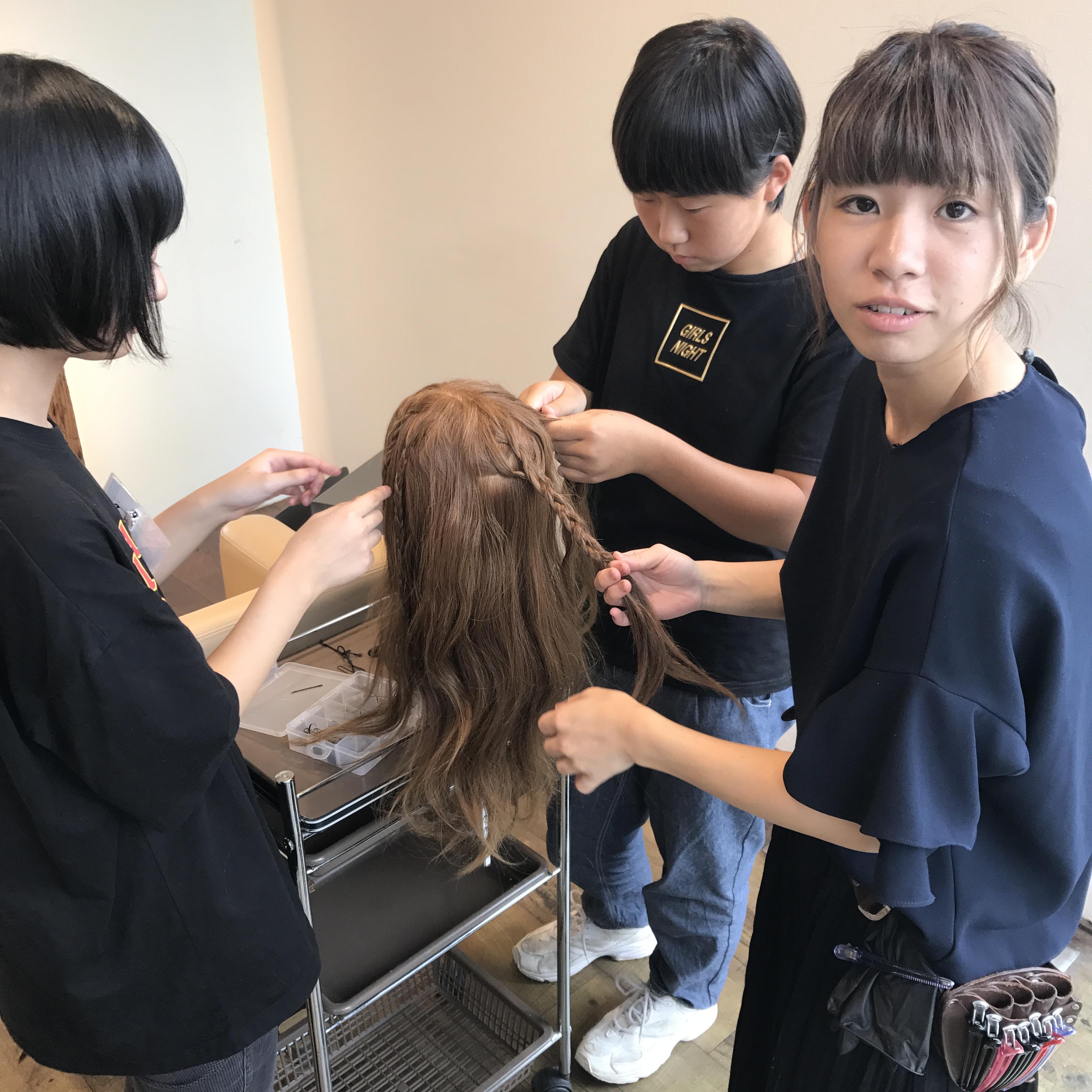 未来の美容師?