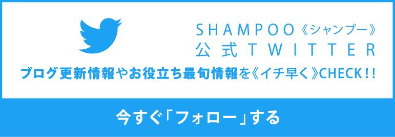 SHAMPOO(シャンプー)公式TWITTERをフォローする