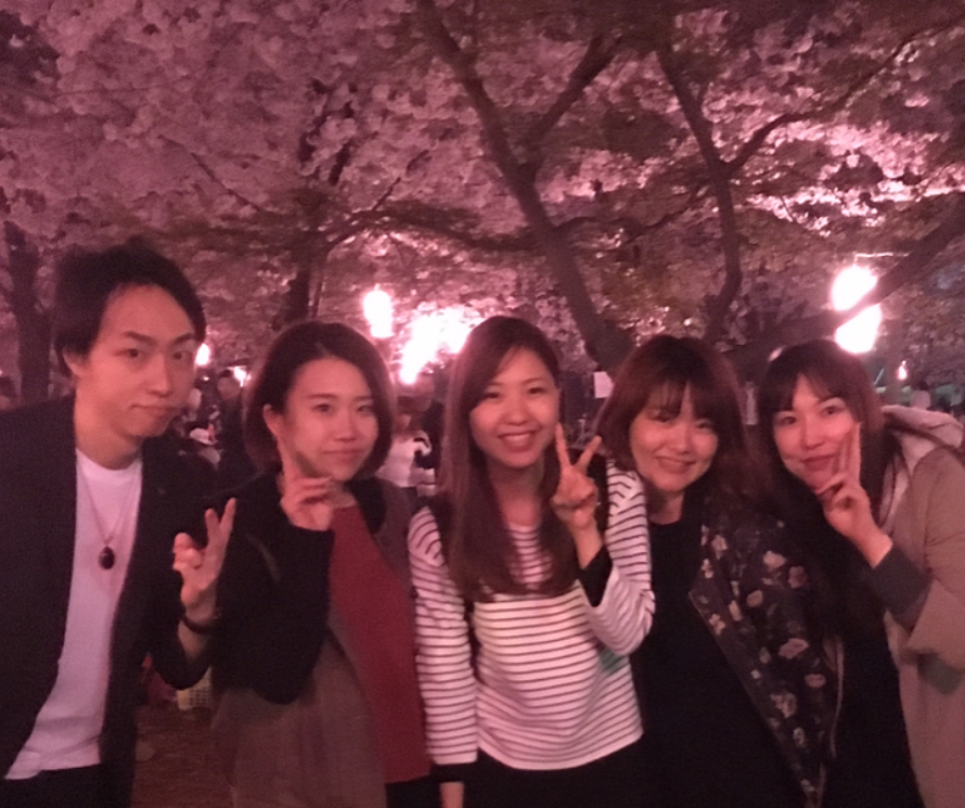 みんなで夜桜!!